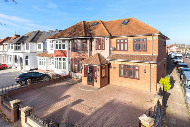 Thumbnail End terrace house for sale in Lord Avenue, Clayhall, Ilford