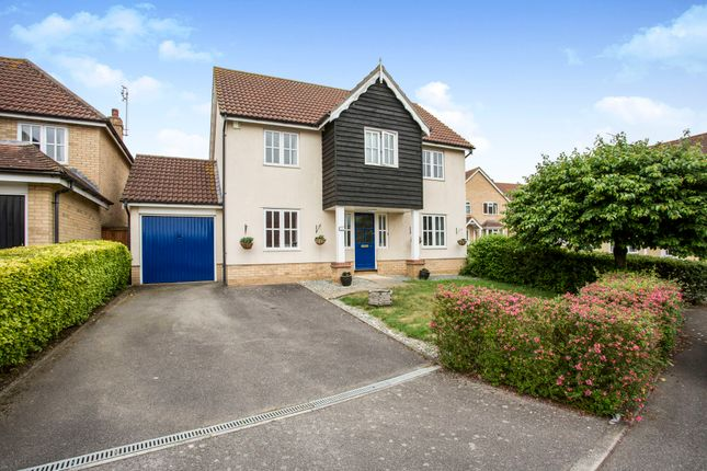 Thumbnail Detached house for sale in Swallow Drive, Stowmarket
