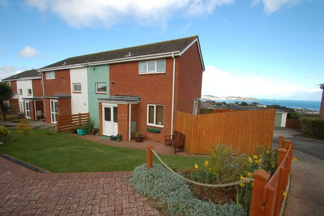 Thumbnail End terrace house for sale in Waterleat Close, Paignton