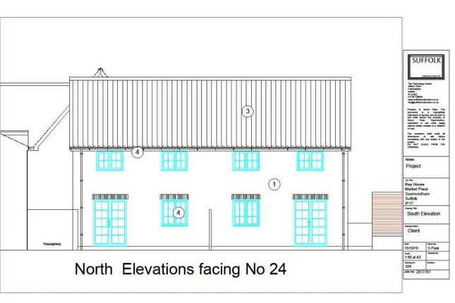 Thumbnail Semi-detached house for sale in Market Place, Saxmundham, Suffolk