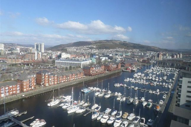 Thumbnail Flat for sale in Meridian Tower, Trawler Road, Swansea