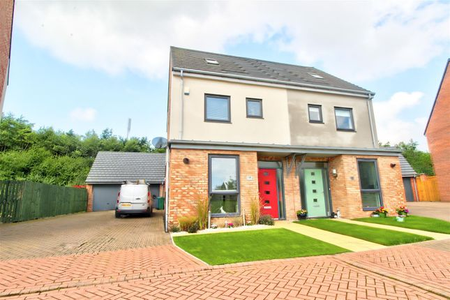 Thumbnail Semi-detached house for sale in Whitworth Park Drive, Elba Park, Houghton Le Spring