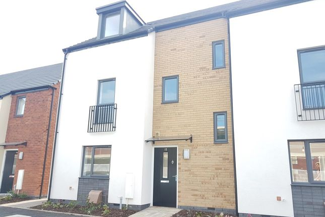 Thumbnail Town house to rent in Pearson Avenue, Belgrave, Leicester