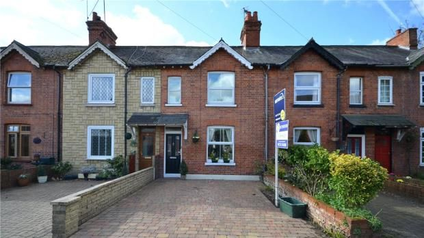 Thumbnail Terraced house for sale in Vicarage Road, Blackwater, Camberley