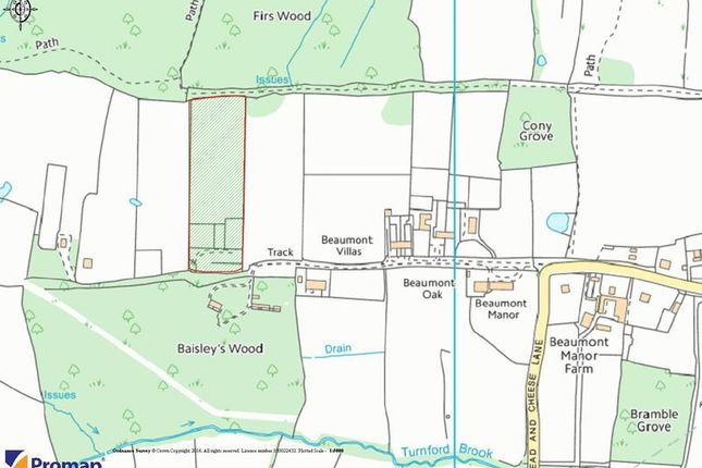 Thumbnail Land for sale in Grazing Land, Beaumont Road, Wormley West End