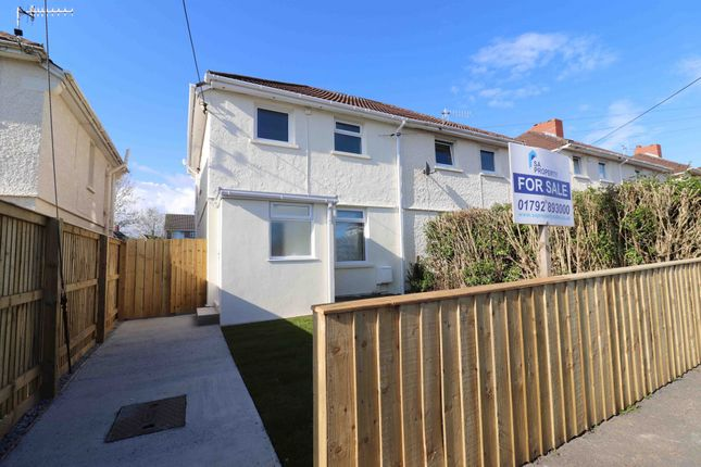 Thumbnail Semi-detached house for sale in Bryngwastad Road, Swansea, West Glamorgan SA44Xg