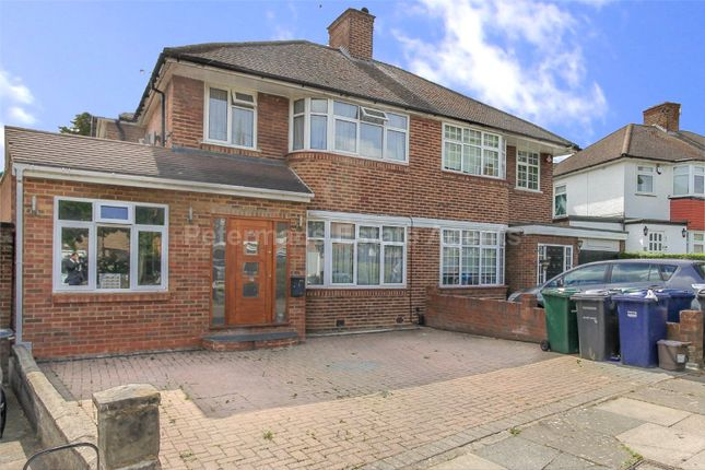 Thumbnail Semi-detached house for sale in Bullescroft Road, Edgware