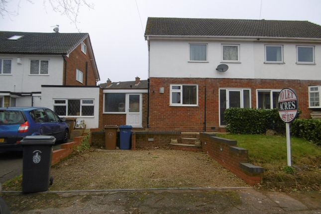 Thumbnail Semi-detached house to rent in Acton Court, Burton Road, Streethay, Lichfield