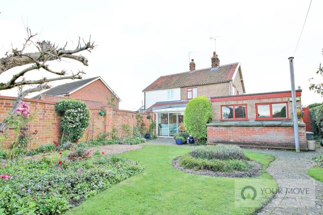 Thumbnail Semi-detached house for sale in Yarmouth Road, Kirby Cane, Bungay