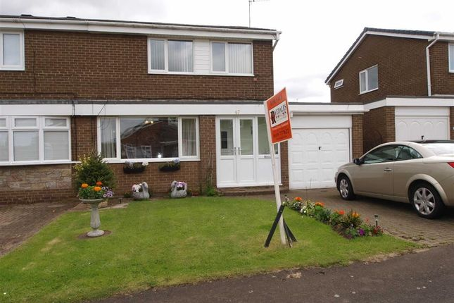 Thumbnail Semi-detached house for sale in Brookside, Dudley, Cramlington