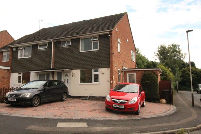 Thumbnail Semi-detached house to rent in Lobbs Wood Close, Leicester