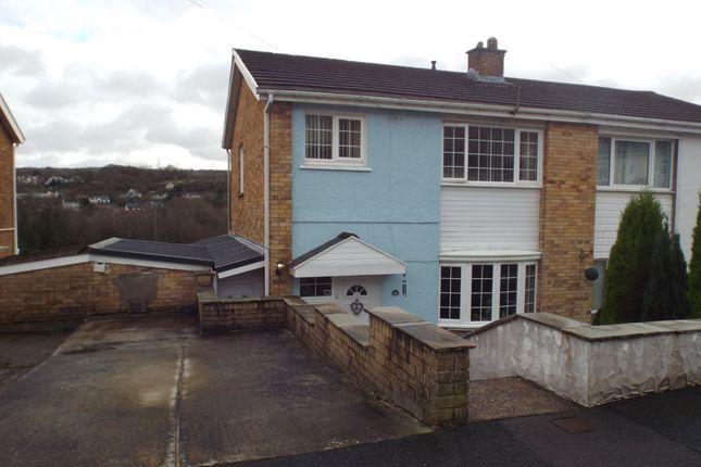 Thumbnail Semi-detached house for sale in Heol Y Brandy, Pontyberem, Llanelli