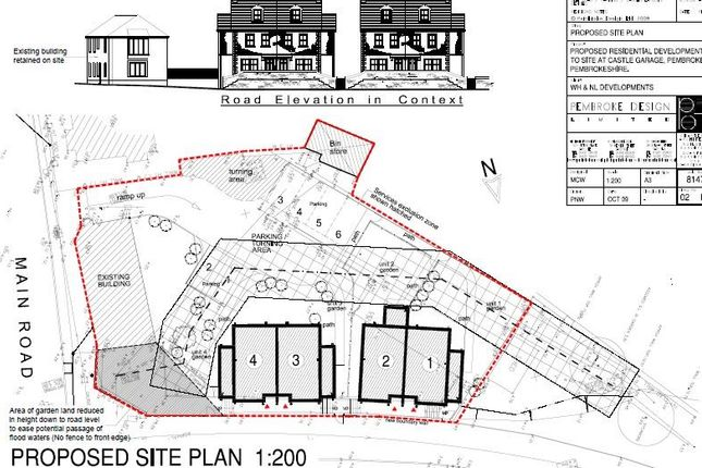 Thumbnail Land for sale in Former Castle Garage, Monkton Bridge, Pembroke, Pembrokeshire