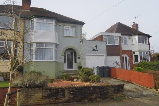 Thumbnail Semi-detached house for sale in Chadwick Avenue, Rednal, Birmingham
