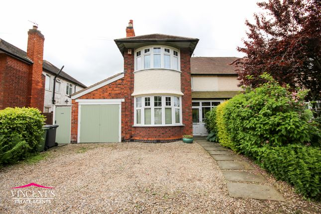 Thumbnail Semi-detached house for sale in Glenfield Road, Western Park, Leicester