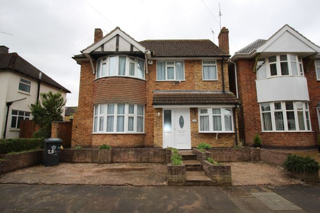 Thumbnail Detached house for sale in Withcote Avenue, Leicester