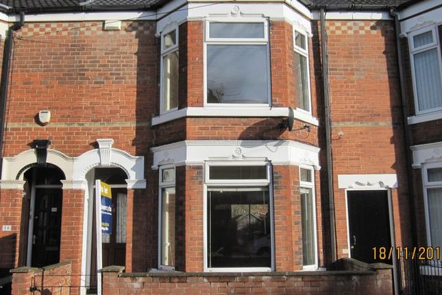 Thumbnail Terraced house to rent in Lee Street, Hull