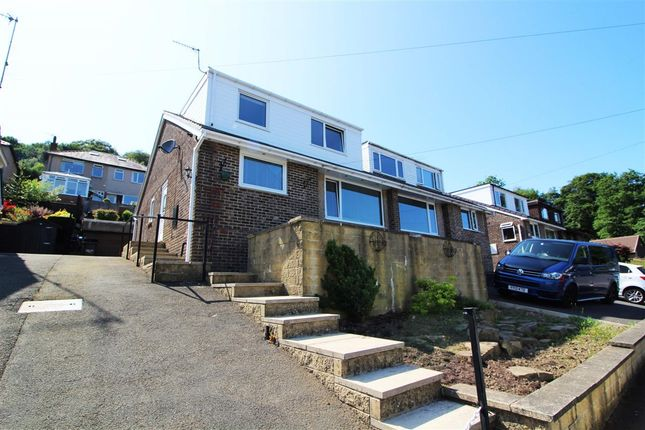 Thumbnail Semi-detached house for sale in Parkdale Drive, Kebroyd, Sowerby Bridge