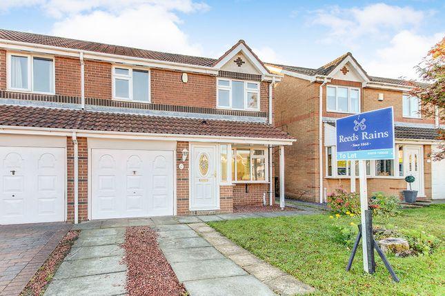 Thumbnail Semi-detached house to rent in Primrose Close, Annitsford, Cramlington