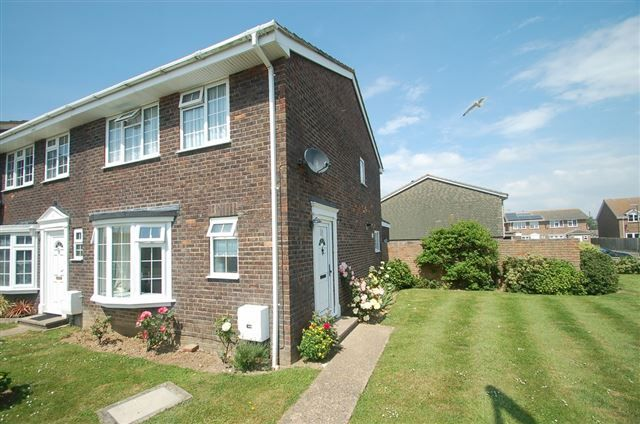 Thumbnail End terrace house for sale in Kestrel Close, East Wittering, Chichester