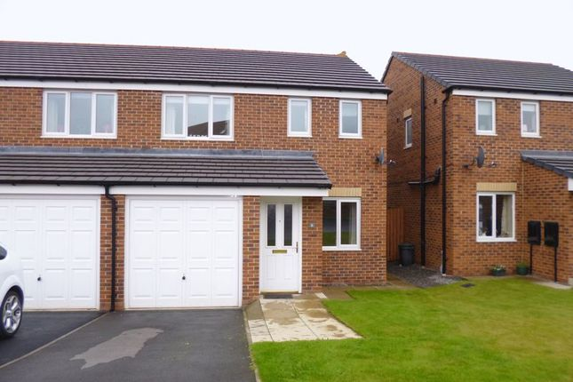 Thumbnail Semi-detached house for sale in Hutchinson Close, Coundon, Bishop Auckland