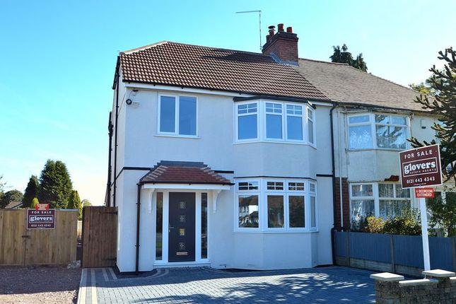 Thumbnail Semi-detached house for sale in 101 Grove Road, Kings Heath, Birmingham