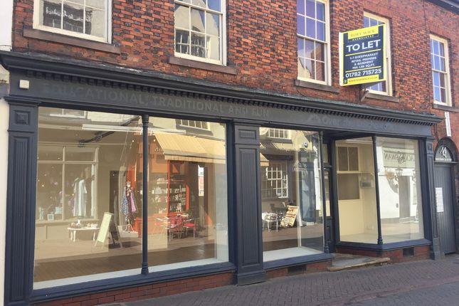 Thumbnail Retail premises to let in 5 - 7 Sheep Market, Leek, Staffordshire