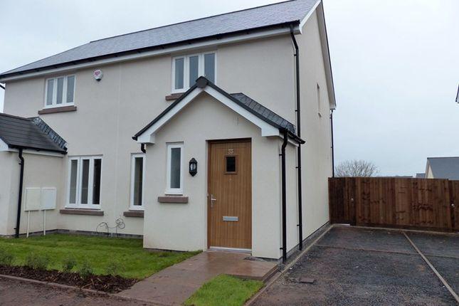 Thumbnail Semi-detached house to rent in St. Davids Park, Llanfaes, Brecon