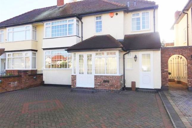 Thumbnail Semi-detached house to rent in Oxbarn Avenue, Bradmore, Wolverhampton