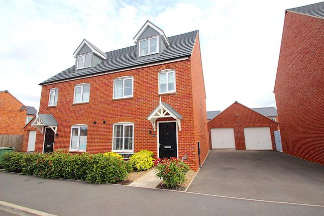 Thumbnail Semi-detached house for sale in Somerville Close, Syston, Leicester