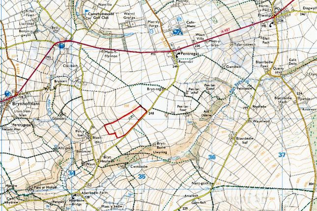 Thumbnail Land for sale in 29 Acres At, Blaenige, Rhydlewis