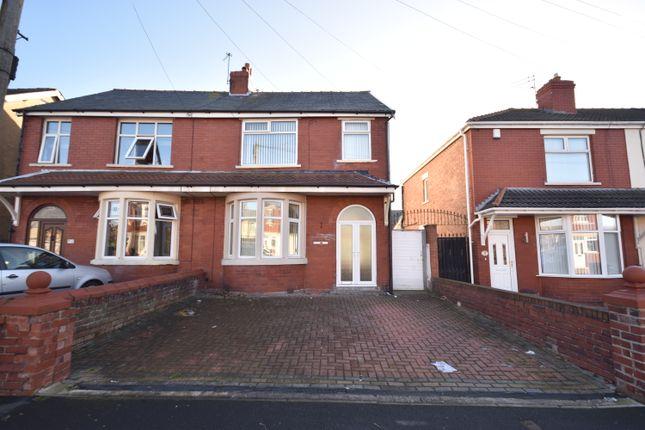 Thumbnail Semi-detached house to rent in Harris Avenue, Blackpool, Lancashire