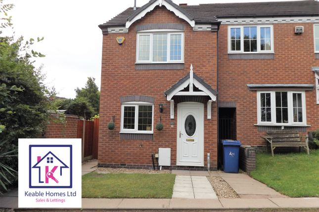 Thumbnail Link-detached house to rent in Newhall Crescent, Cannock, Staffordshire