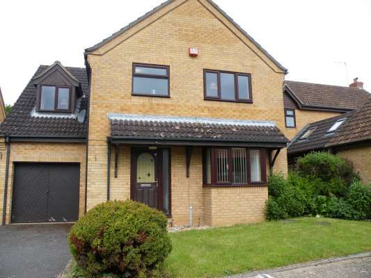 Thumbnail Detached house to rent in Lingwood Park, Peterborough