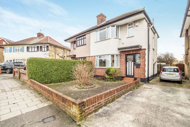 Thumbnail Semi-detached house for sale in Highfield Road, Collier Row, Romford