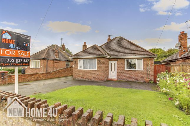 Thumbnail Detached bungalow for sale in Burntwood Road, Buckley