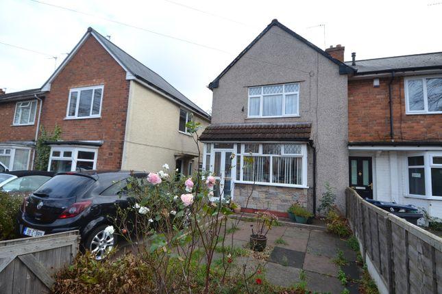 End terrace house in  Springcroft Road  Tyseley  Birmingham  Birmingham