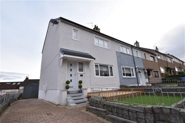 Thumbnail End terrace house for sale in Moraine Avenue, Blairdardie, Glasgow
