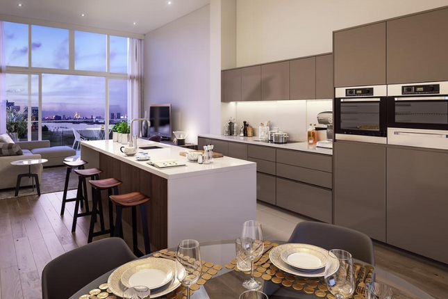 Thumbnail Flat for sale in Building 107 At The Village Square, West Parkside, Greenwich, London