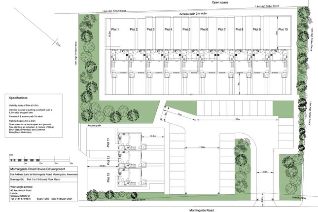 Thumbnail Land for sale in Morningside Road, Newmains, Wishaw