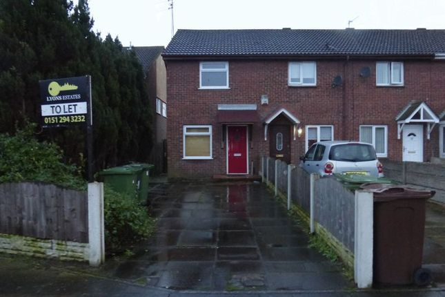 Thumbnail Terraced house to rent in Ronan Close, Bootle