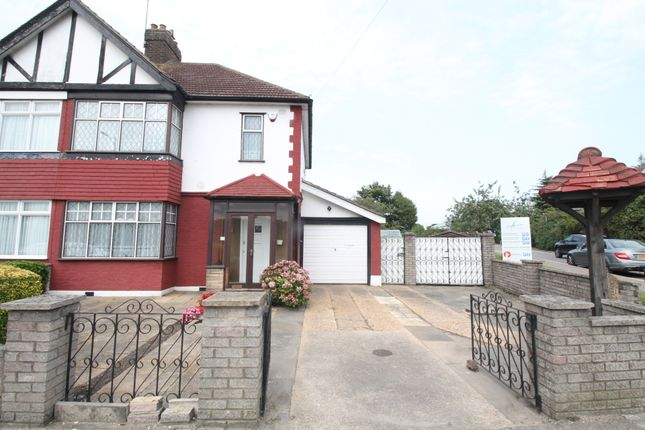 Thumbnail End terrace house for sale in Forest Road, Hainault, Essex
