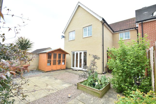 Thumbnail End terrace house for sale in Crown Field Road, Glemsford, Sudbury