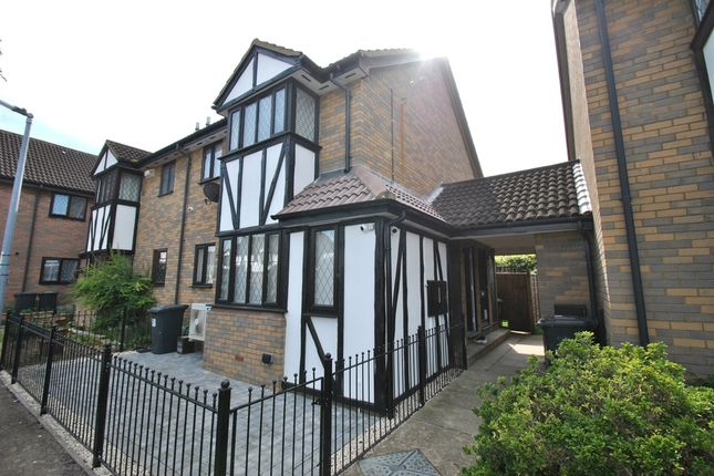 Thumbnail End terrace house to rent in Astral Close, Henlow Camp