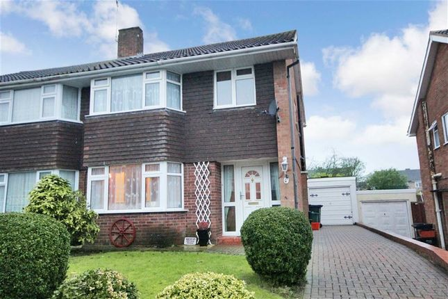 Thumbnail Semi-detached house for sale in Buckingham Road, Lawn, Swindon, Wiltshire