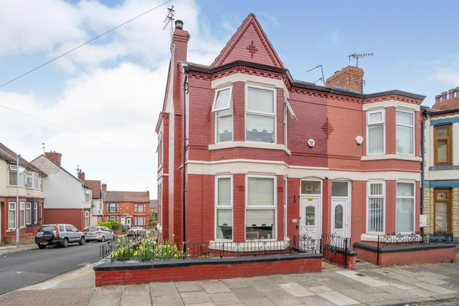 Thumbnail End terrace house for sale in Bankville Road, Tranmere, Birkenhead