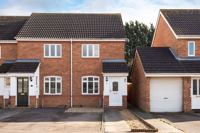Thumbnail End terrace house for sale in York Close, London Road, Biggleswade