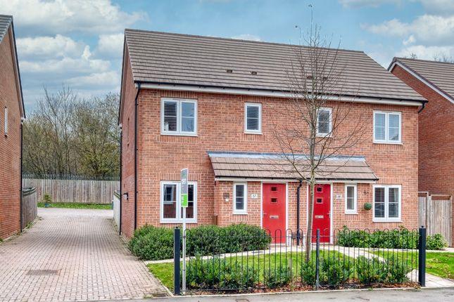 Thumbnail Semi-detached house for sale in East Works Drive, Cofton Hackett, Birmingham