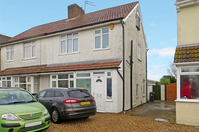 Thumbnail Semi-detached house for sale in Baytree Road, Milton, Weston-Super-Mare, North Somerset.