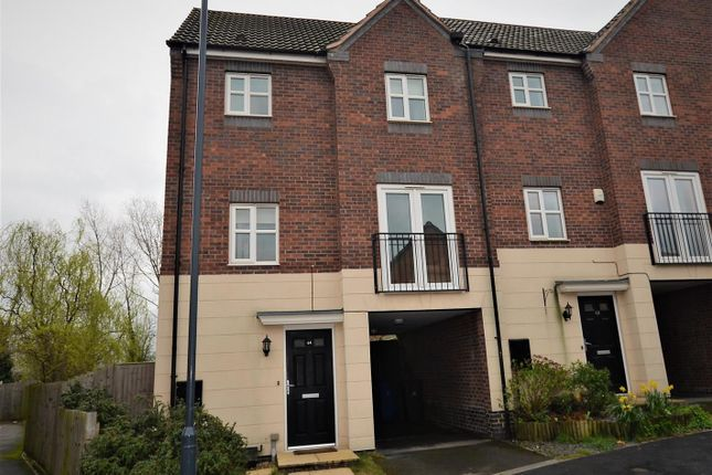 Thumbnail Town house for sale in Girton Way, Mickleover, Derby